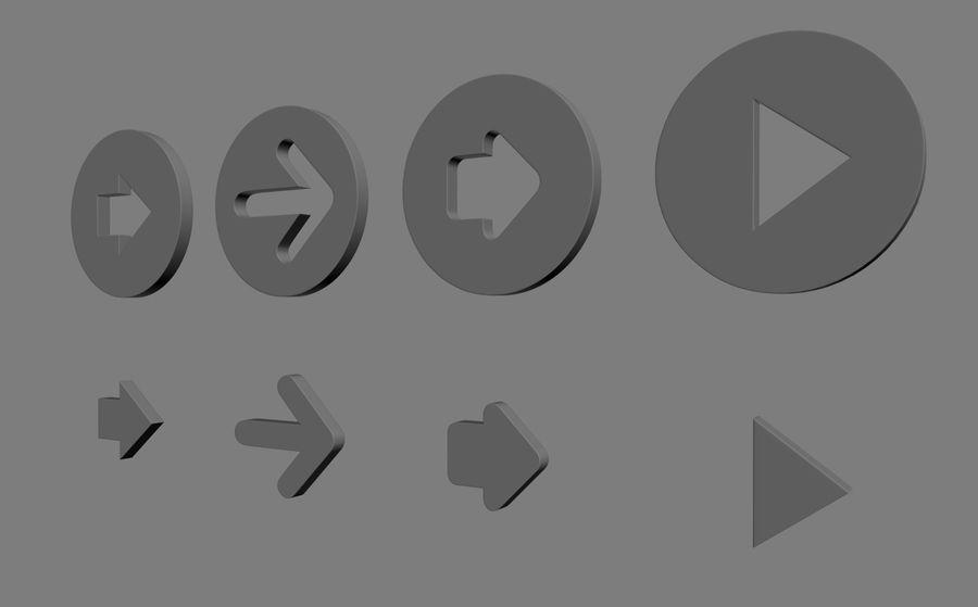 Setas; flechas royalty-free 3d model - Preview no. 6