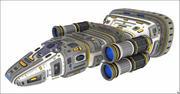 Sci-Fi Spacecraft V2 3d model
