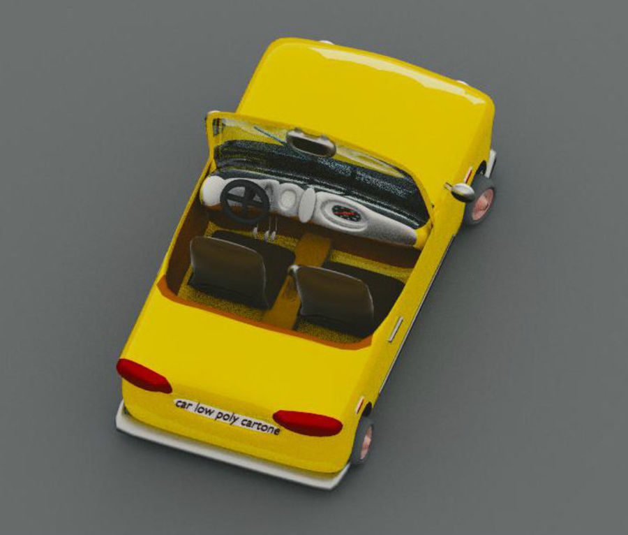 low Poly Car royalty-free 3d model - Preview no. 3