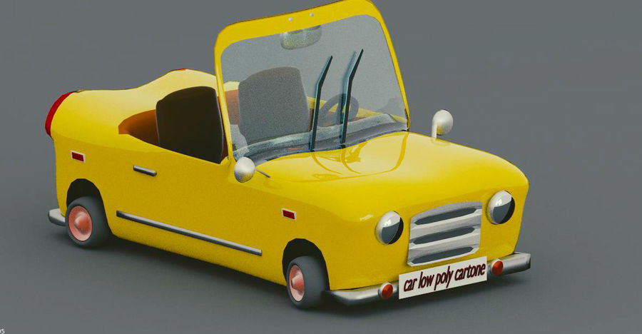 low Poly Car royalty-free 3d model - Preview no. 1