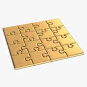 Золотая головоломка 3d model