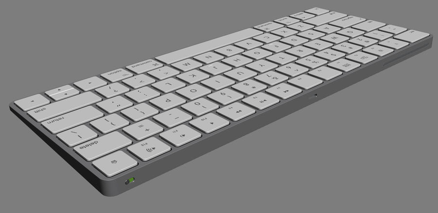Apple Magic Keyboard royalty-free 3d model - Preview no. 9