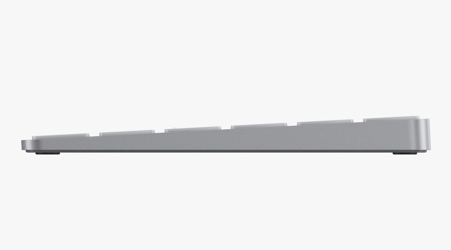 Apple Magic Keyboard royalty-free 3d model - Preview no. 5