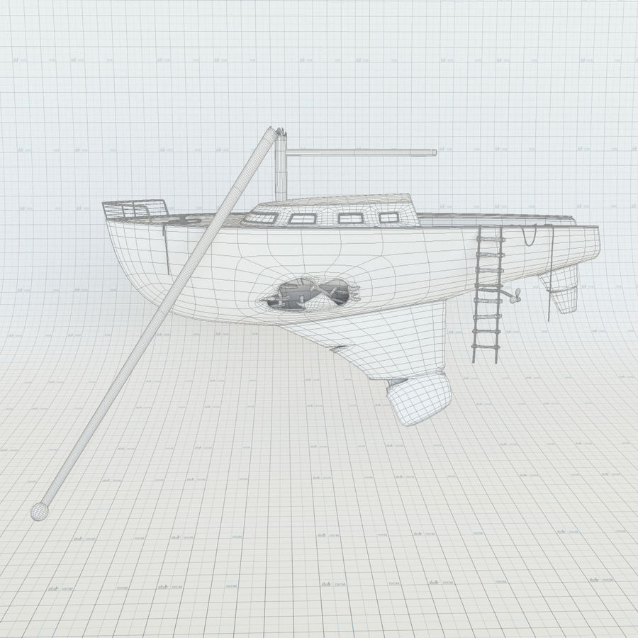 Shipwreck Sailboat royalty-free 3d model - Preview no. 9
