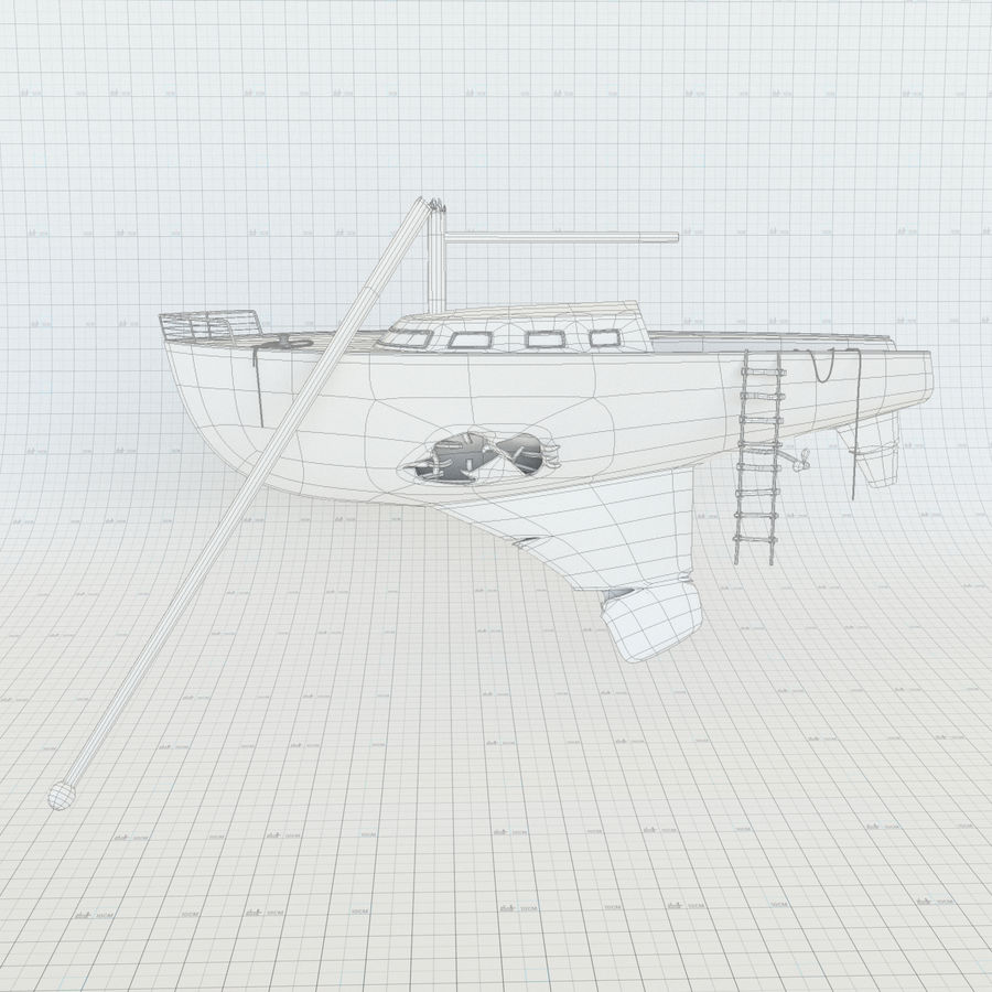Shipwreck Sailboat royalty-free 3d model - Preview no. 6