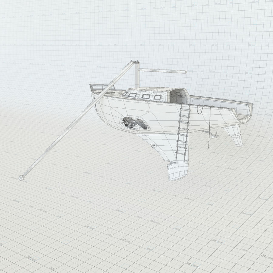 Shipwreck Sailboat royalty-free 3d model - Preview no. 7