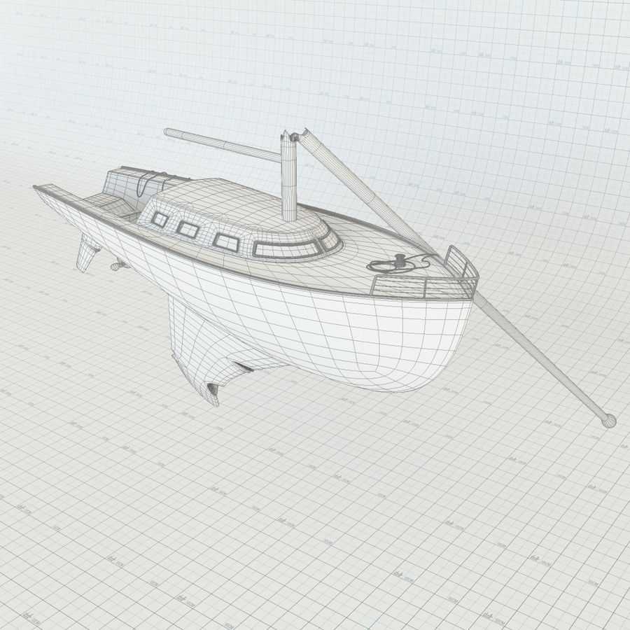 Shipwreck Sailboat royalty-free 3d model - Preview no. 10