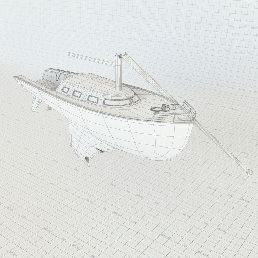 Shipwreck Sailboat royalty-free 3d model - Preview no. 8