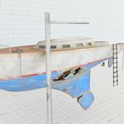 Shipwreck Sailboat 3d model