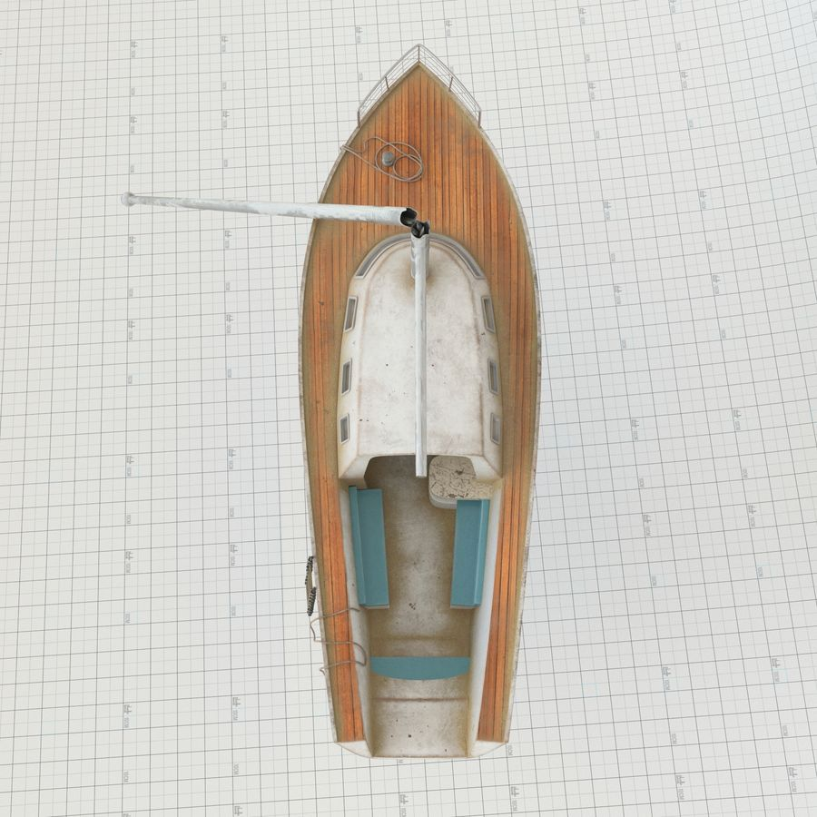 Shipwreck Sailboat royalty-free 3d model - Preview no. 5