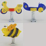 弹簧摇摆玩具 3d model