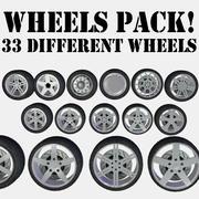 33 Wheels Pack 3d model