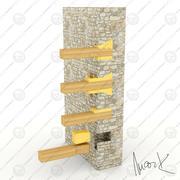 Construções de carpintaria 3d model