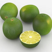 Fruit Green Lime 3d model