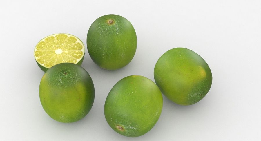 Meyve Yeşili Kireç royalty-free 3d model - Preview no. 5