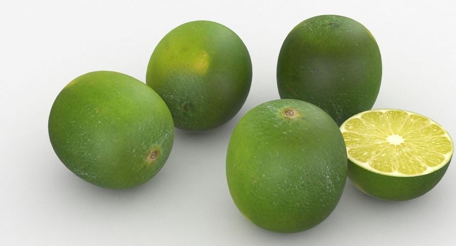 Meyve Yeşili Kireç royalty-free 3d model - Preview no. 7