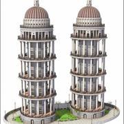 Toren gebouwen 3d model