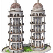 Tower Buildings 3d model