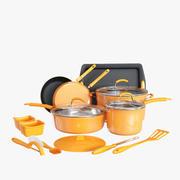 Kitchen utensil set orange 3d model