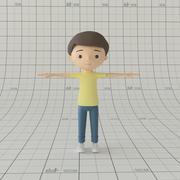만화 소년 장비 3d model