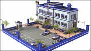 Полицейский участок 3d model
