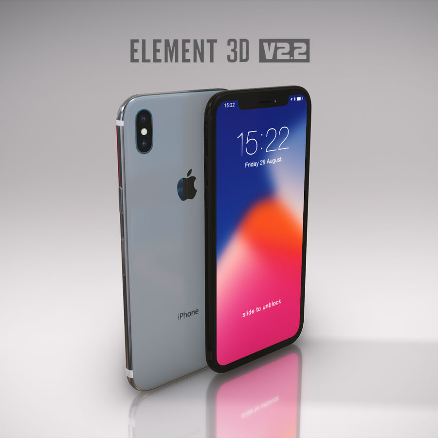 Apple iPhone X royalty-free 3d model - Preview no. 26