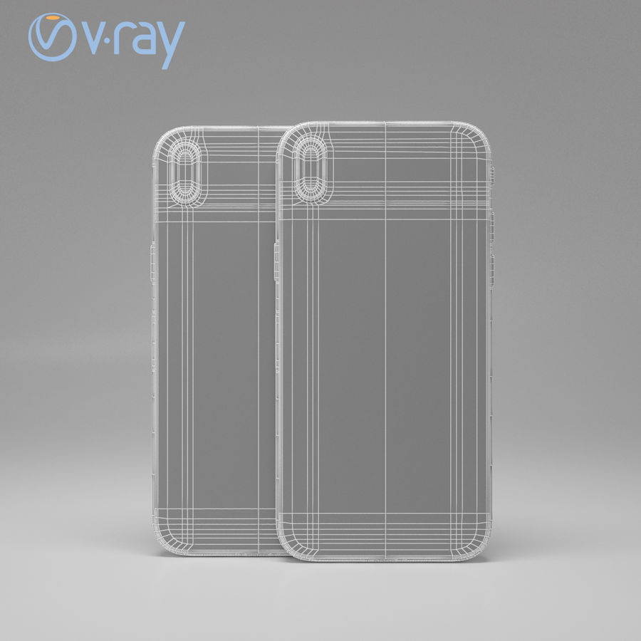 Apple iPhone X royalty-free 3d model - Preview no. 19