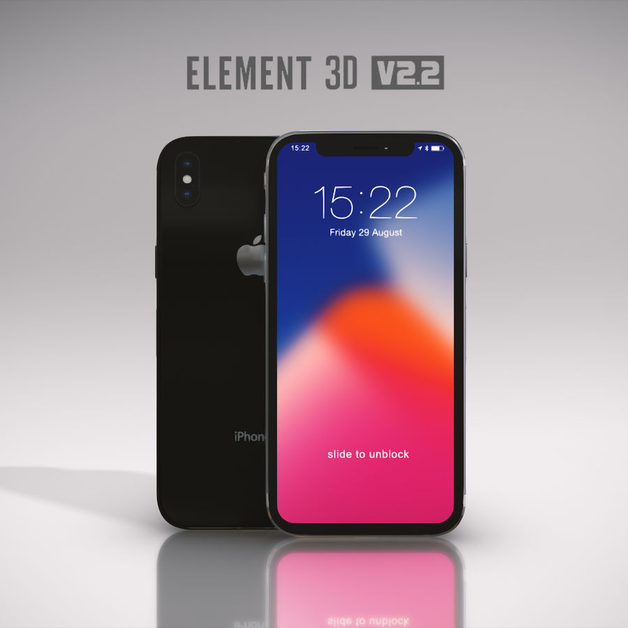 Apple iPhone X royalty-free 3d model - Preview no. 24