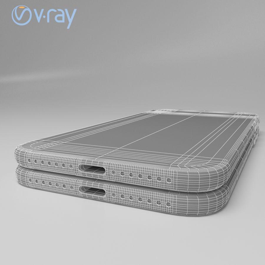 Apple iPhone X royalty-free 3d model - Preview no. 22