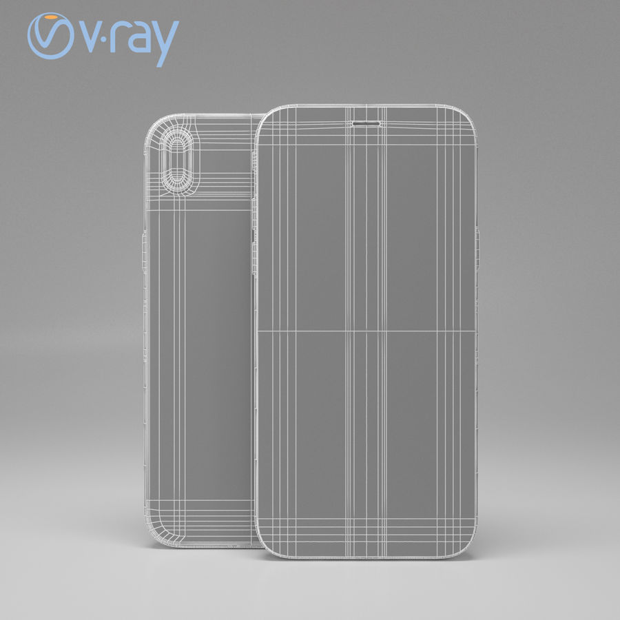 Apple iPhone X royalty-free 3d model - Preview no. 13