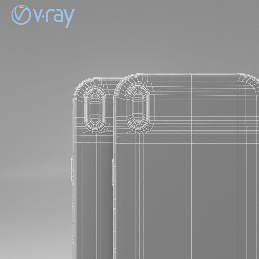 Apple iPhone X royalty-free 3d model - Preview no. 15