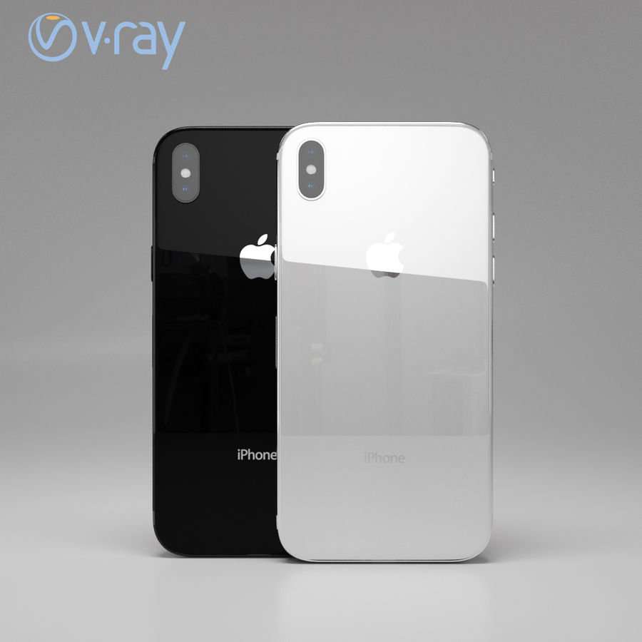 Apple iPhone X royalty-free 3d model - Preview no. 8