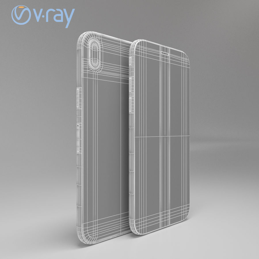 Apple iPhone X royalty-free 3d model - Preview no. 14