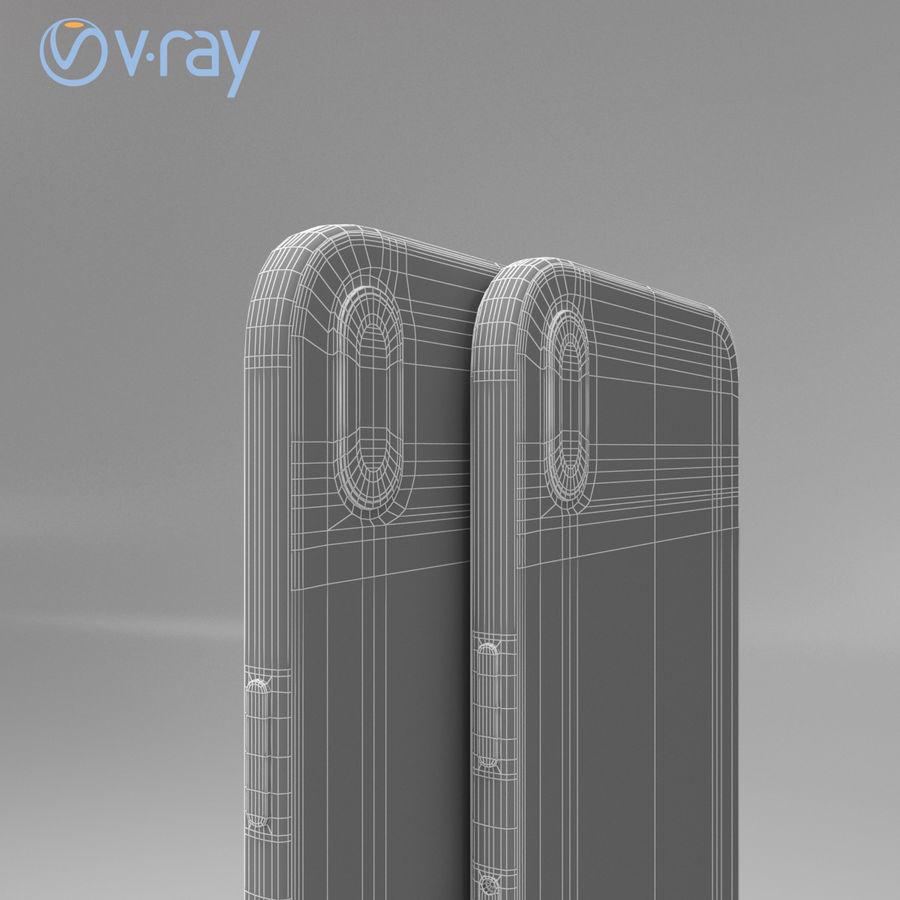 Apple iPhone X royalty-free 3d model - Preview no. 17