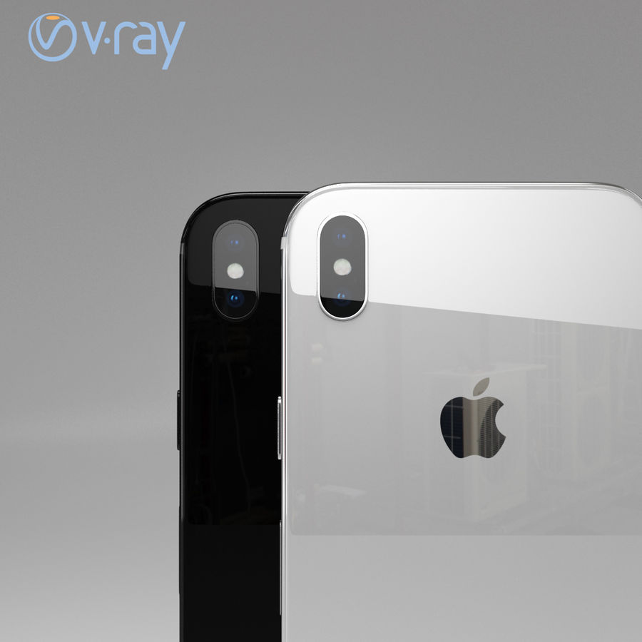 Apple iPhone X royalty-free 3d model - Preview no. 4