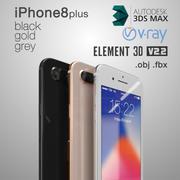 Apple iPhone 8 plus 3d model