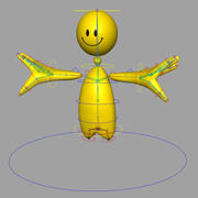 Smiley Rigged dummy character 3d model