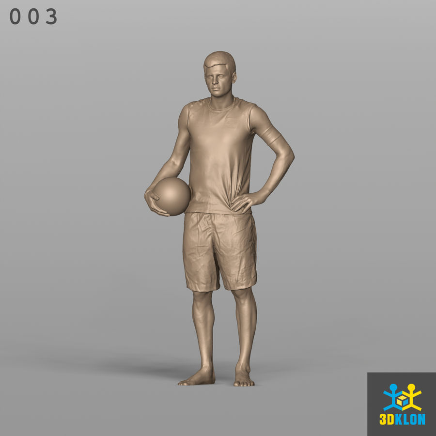 Sportsman High poly 3D Scan royalty-free 3d model - Preview no. 2