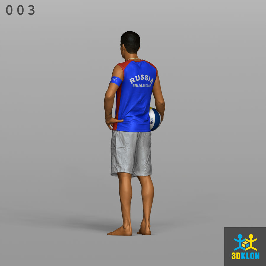 Sportsman High poly 3D Scan royalty-free 3d model - Preview no. 9