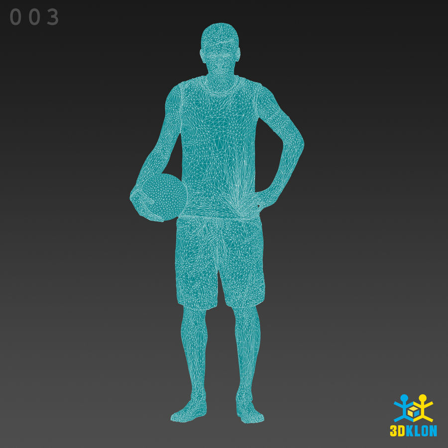 Sportsman High poly 3D Scan royalty-free 3d model - Preview no. 11