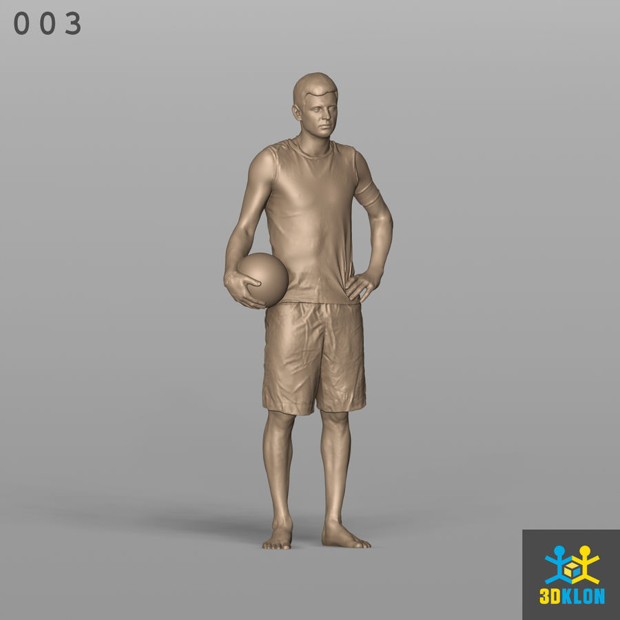 Sportsman High poly 3D Scan royalty-free 3d model - Preview no. 4