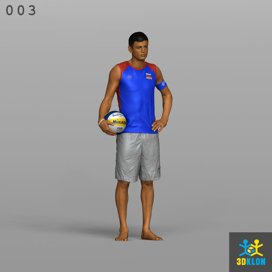 Sportsman High poly 3D Scan royalty-free 3d model - Preview no. 3