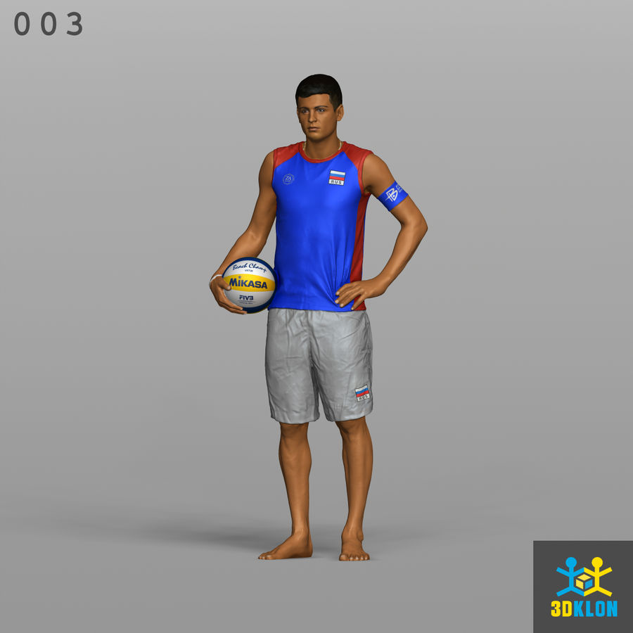 Sportsman High poly 3D Scan royalty-free 3d model - Preview no. 1