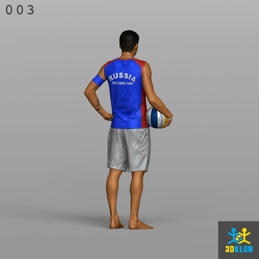 Sportsman High poly 3D Scan royalty-free 3d model - Preview no. 7