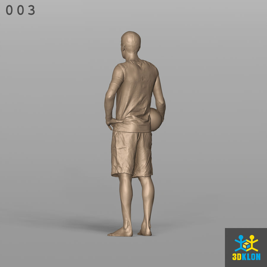 Sportsman High poly 3D Scan royalty-free 3d model - Preview no. 10