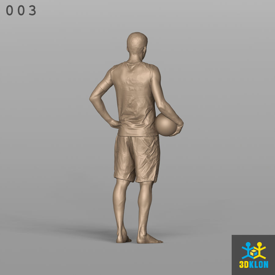 Sportsman High poly 3D Scan royalty-free 3d model - Preview no. 8