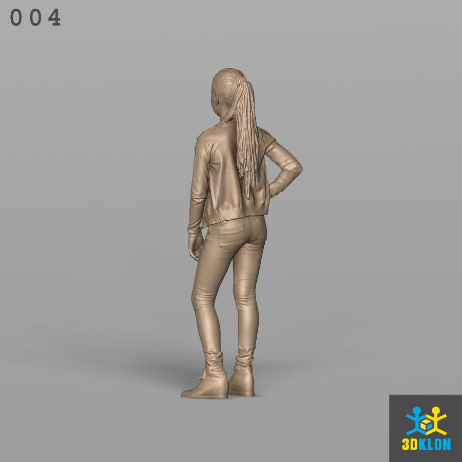Digitalização 3D alta poli de menina royalty-free 3d model - Preview no. 10