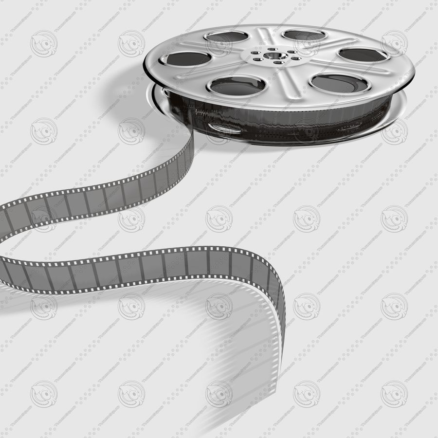 Film Roll royalty-free 3d model - Preview no. 4