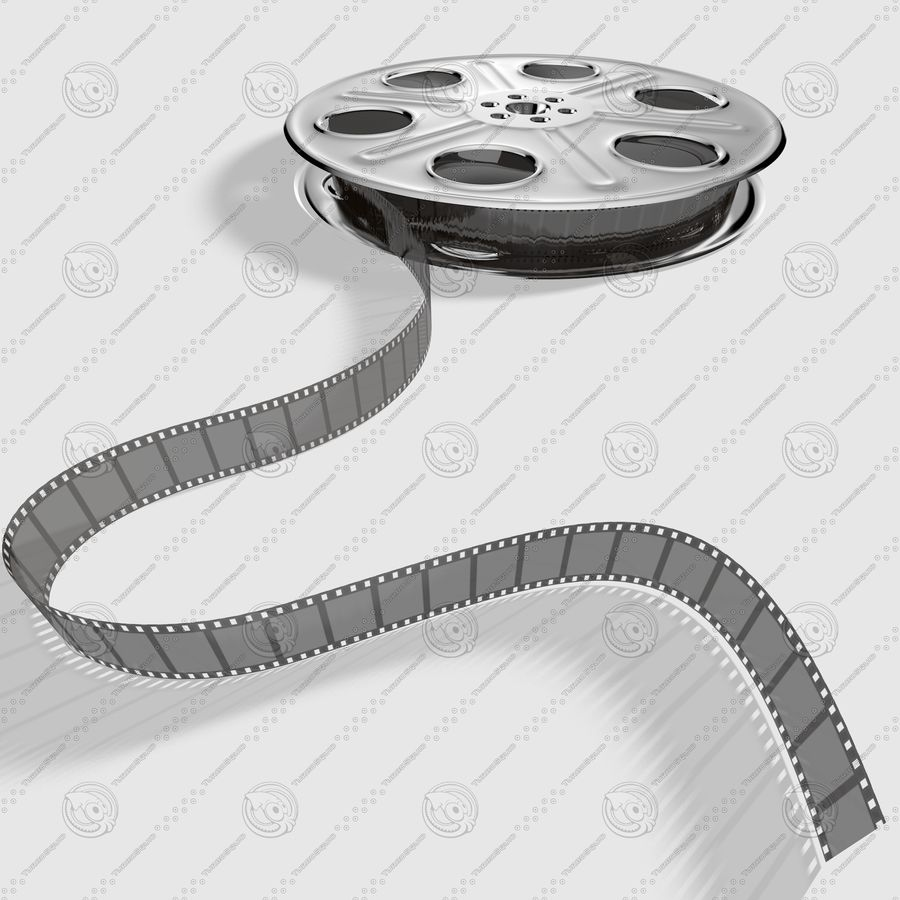 Film Roll royalty-free 3d model - Preview no. 8