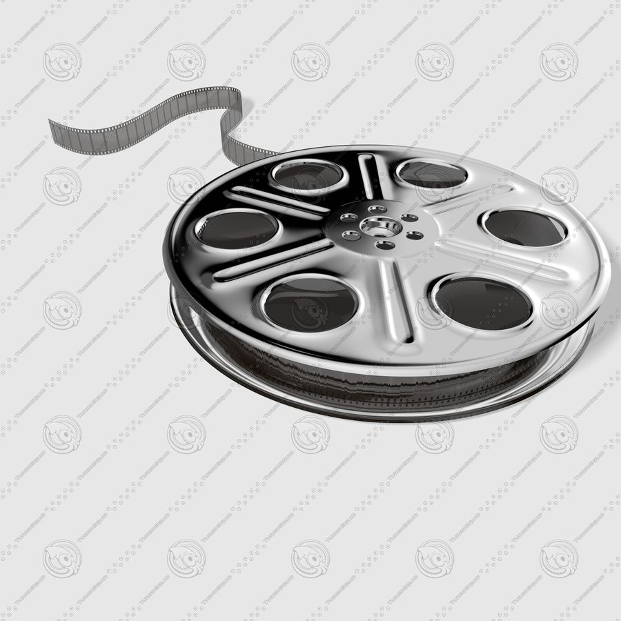 Film Roll royalty-free 3d model - Preview no. 6